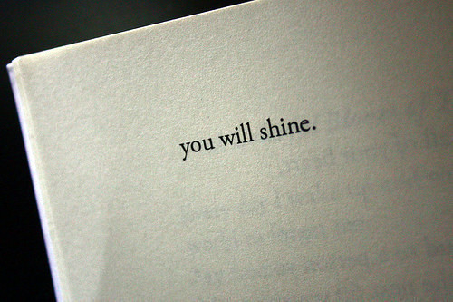 book, message, page, quote, shine