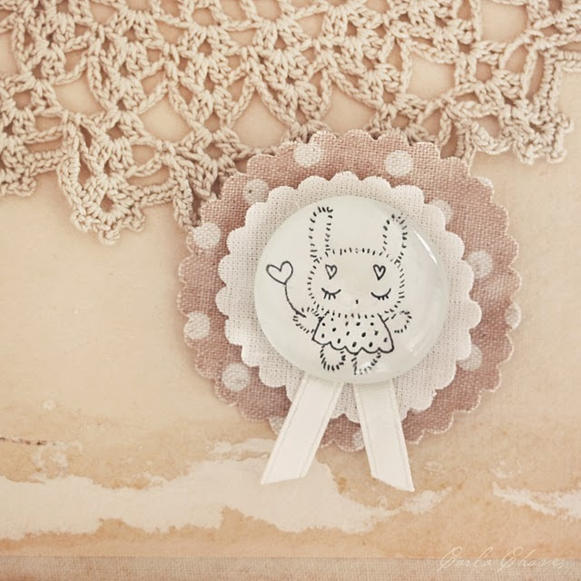 brooch, bunny, cute, kawaii