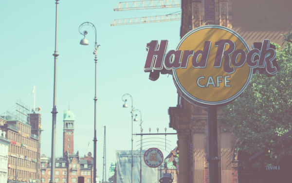 cafe, denmark, hard rock cafe, street, sun