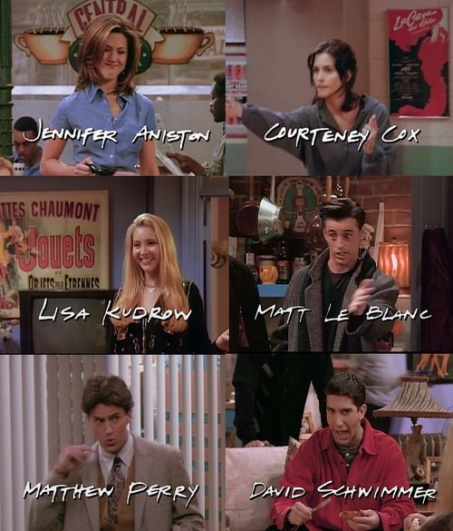 chandler, friends, joey, monica, phoebe