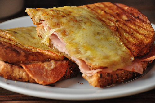 cheese, cheese sandwich, food and ham