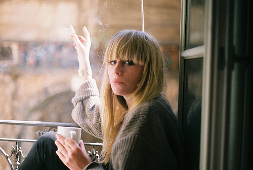 cigar, cigarette, coffee, girl, smoke, smoking