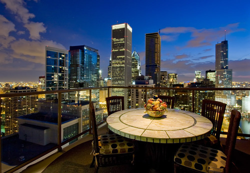 city, luxury and view