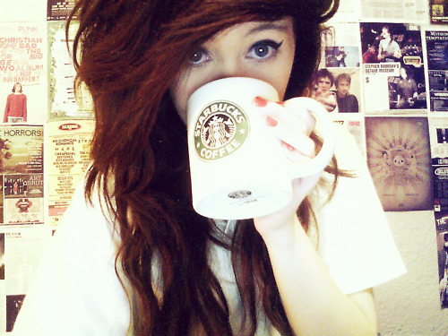 coffe, curly, curly hair, cute, fashion