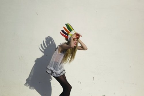 color, colour, dress, fashion, feather, feathers, fun, girl, hat, tights