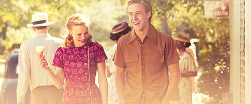 couple, cute, dress, ice cream, laugh, laughing, love, movie, notebook, smile, the notebook