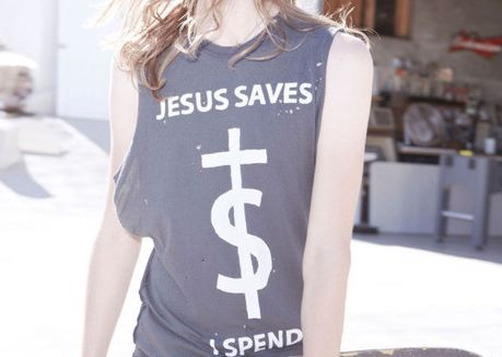 cross, faith, fashion, girly, jesus, saves, shirt, spend, style, t-shirt