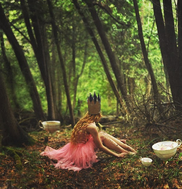 cup, cup of tea, fairy tale, forest, girl