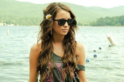 curls, girl, pretty, summer, summer hair