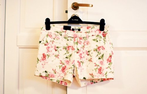 fashion, floral shorts, flower, short, vintage