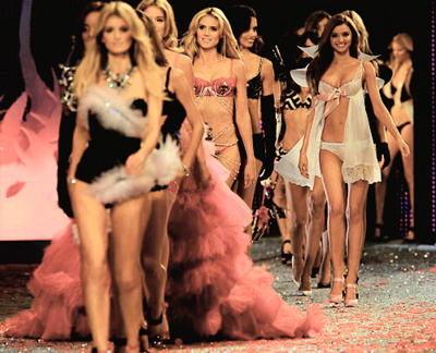 fashion, girls, heidi klum, lingerie, miranda kerr, pink, victoria secret