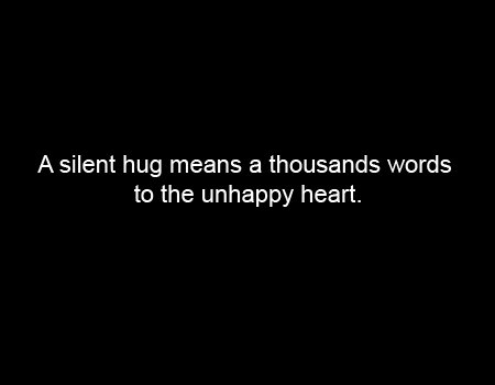 happy, heart, hug, quote, sad