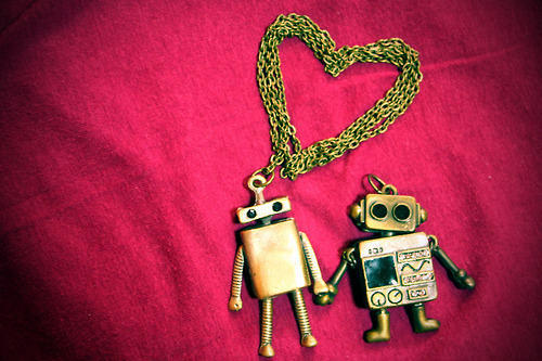 love, robot, robots, First Set on Favim.com