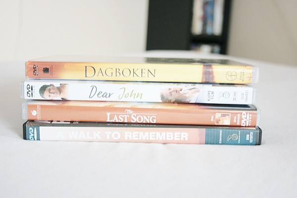 a walk to remember, dagboken, dear john, dvds, movies