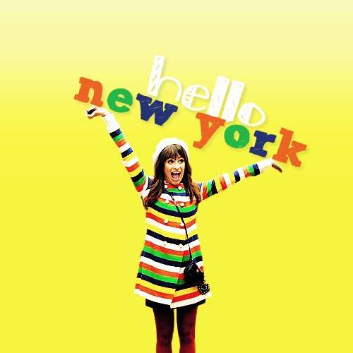 actress, bright, broadway, colourful, colours, cute, girl, glee, glee cast, lea michele, nationals, new york, new york city, rachel berry, singer, smile