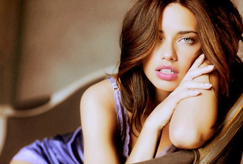 adriana lima, beautiful, eyes, girl, hair