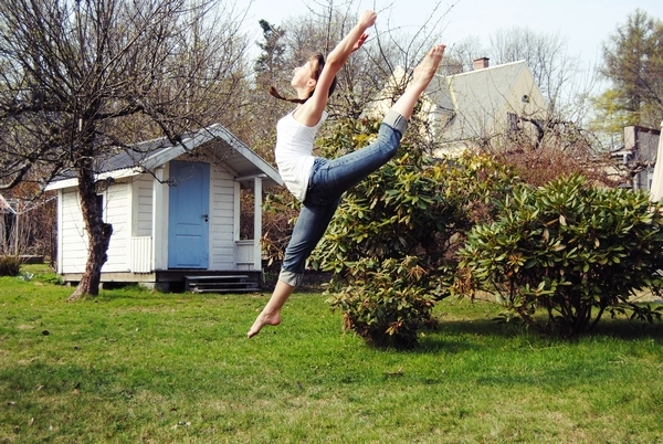 amazing, ballerina, ballet, beautiful, dance, dancer, garden, girl, jump, pretty, vintage