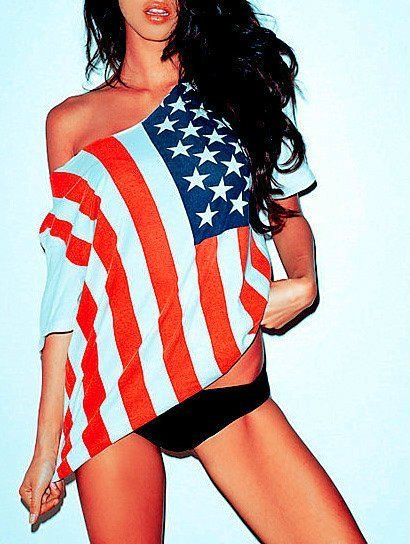 american, american flag, fashion, flag, girl