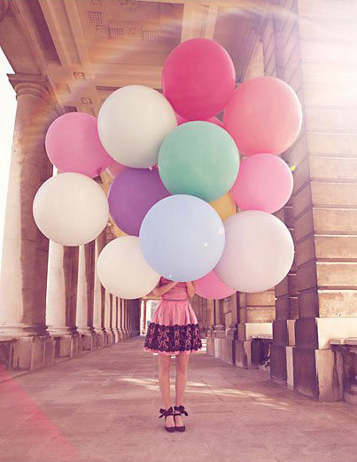 art, balloon, bigger, bigger and a bigger, birthday, dress, fashion, girls, pink