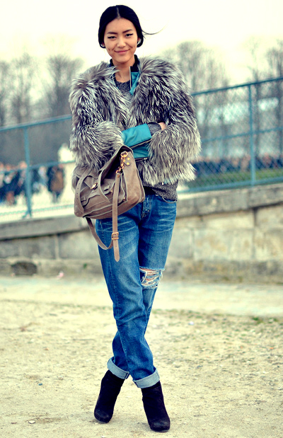 asianm heels, cute, denim, fashion, girl, hair, jeans, ripped jeans