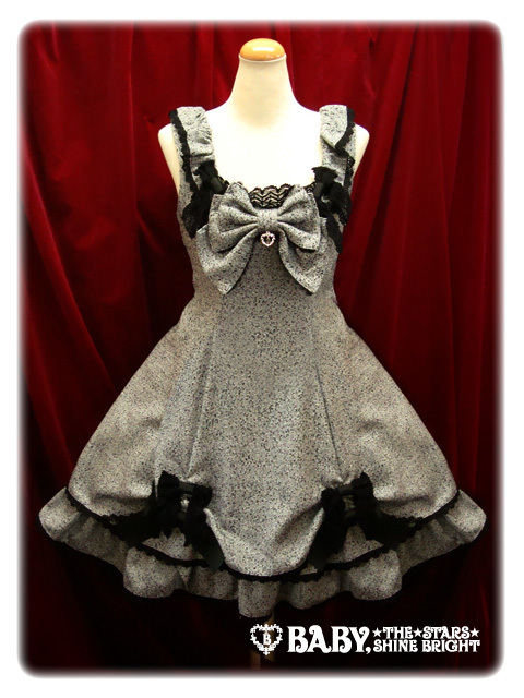 baby the stars shine bright, dress, gothic, grey, kawaii, lol this dress is ugly, lolita