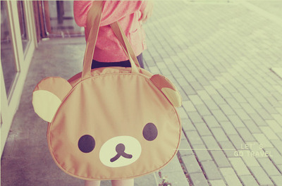 bag, cute, rilakkuma