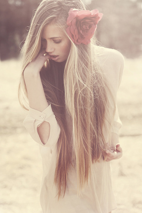 beautiful, brown hair, extensions, fashion, flower, girl, hair, long hair, model, separate with comma, style