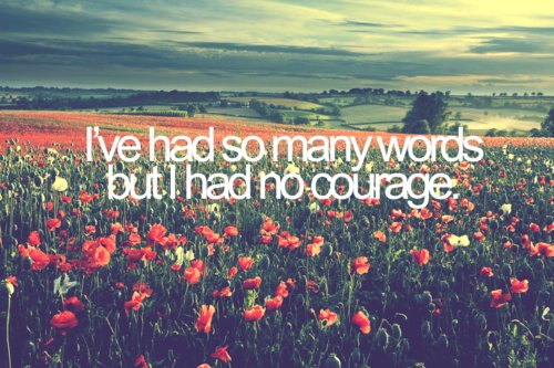 beautiful, courage, give it all, give it all by he is we, he is we, he is we lyrics, poppy, scenery