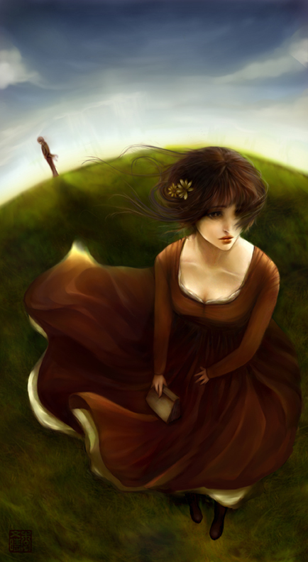 beautiful, drawing, pride and prejudice, woman