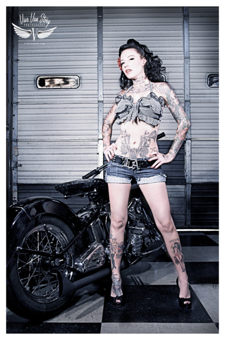 beautiful, girl, pin up, rock, rockabilly, tattoo, woman