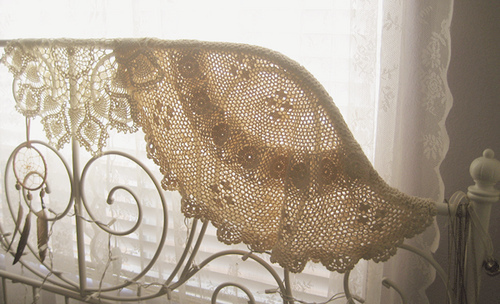 bed, beige, lace, pastel, vintage, white, window