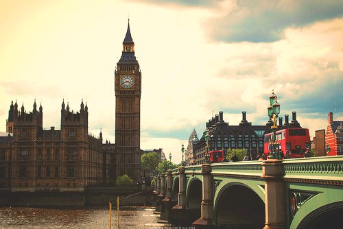ben, big, big bang, big ben, bridge, clock, great britain, london, londres, love, paisagem, photography, ponte, red bus, tower