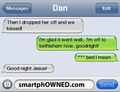 bethlehem, conversation, funny, iphone, jesus