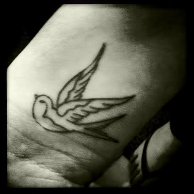 birdie, little bird, swallow, swallow tattoo, tattoo