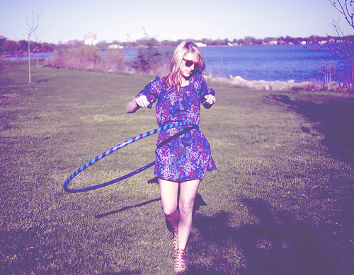 blonde, calm, dress, fashion, fun, girl, grass, happy, hippie, hoolahoop, hoop, hula, outdoors, outside, play, pretty, simple, typography, vintage, wanderer