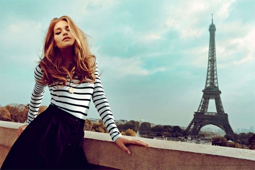 blonde, chic, eiffel, eiffel tower, fashion