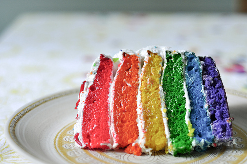 blue, cake, candy, colorfull, colors, food, green, pink, rainbow, yellow