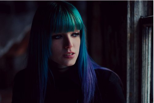 blue hair, dyed hair, girl, perfect, pretty