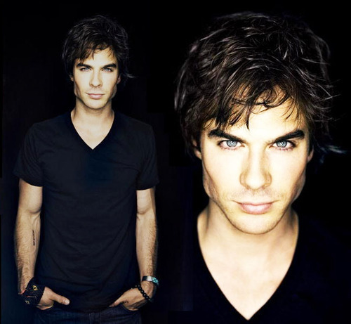 blueeyed, cute, damon, eyebrows, eyes, green, hair, hot, ian, ian somerhalder, joseph, salvatore, sexy, somerhalder, v neck