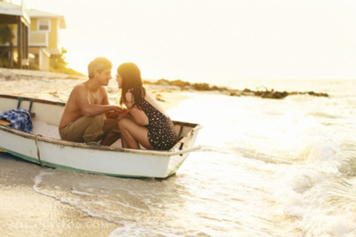 boat, couple, kiss, love, sea, water