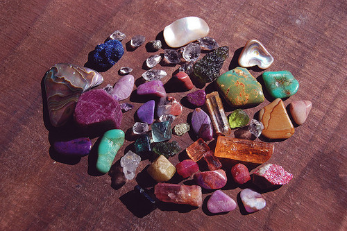 boho, colorful, crystal, gems, hippie, hipster, natural, nature, pretty, quartz, rocks, stones, turquoise