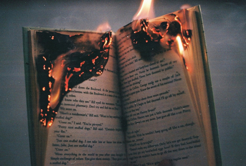 book, burn, fire, lomo, separate with comma