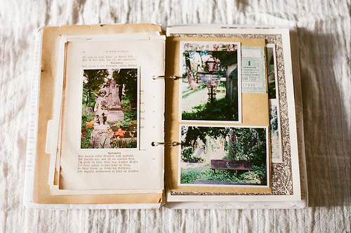 book, girly, inspiration book, memories, photo, photography, remember, scrapbook, travel, vacation, vintage