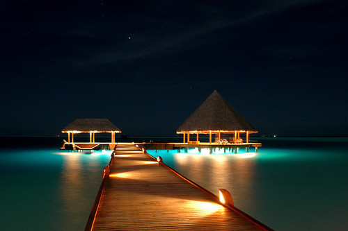 bora bora, heaven, night, paradise, summer