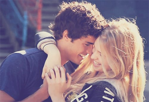 boy, cute, girl, hug, laugh
