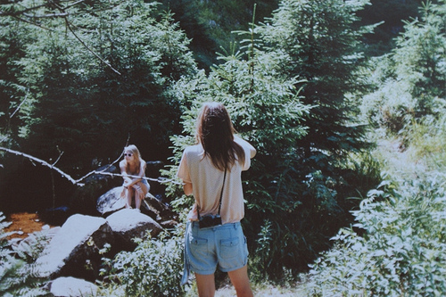 branches, forest, forrest, girls , nature