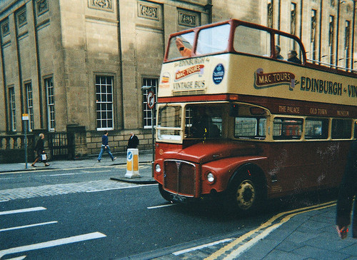 bus, city, double decker, edinburgh, photoart