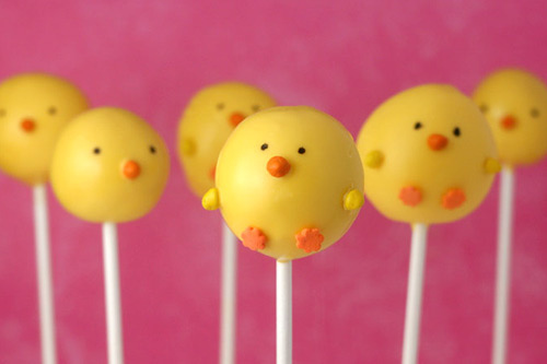 cake, candy, chicks, cute, eastern, happy, lolly, pink, yellow