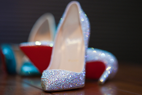 christian louboutin, designer, fashion, glitter, high heels