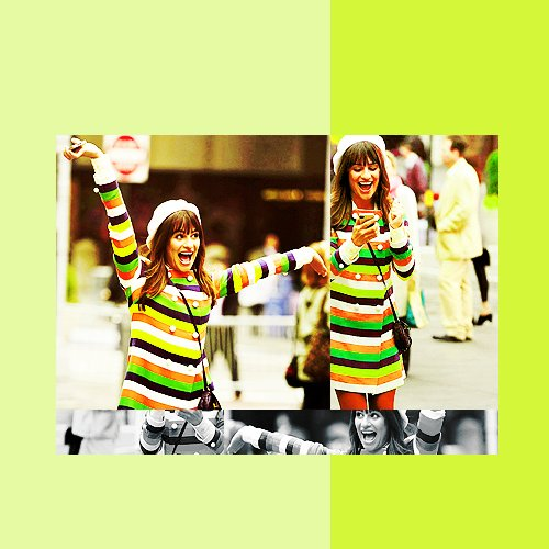 colours, cute, glee, glee cast, green, lea michele, new york, rachel berry